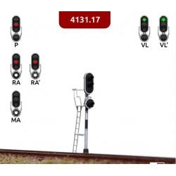 MAFEN 413117. N Señal de 3 luces verde, rojo, ámbar