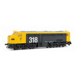 ARNOLD 2250. N Locomotora diésel 318.009 (1809) RENFE, amarillo y gris. ANALÓGICA