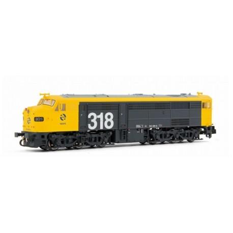 ARNOLD 2250. N Locomotora diésel 318.009 (1809) RENFE, amarillo y gris