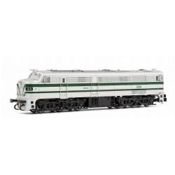 ARNOLD 2249S. N Locomotora diésel 1818 RENFE, plata y verde. Digital con Sonido