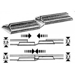 FLEISCHMANN 6437. Adaptadores vias 2,1 - 2,5