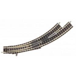 FLEISCHMANN 9174. Desvío curvo izquierdo manual