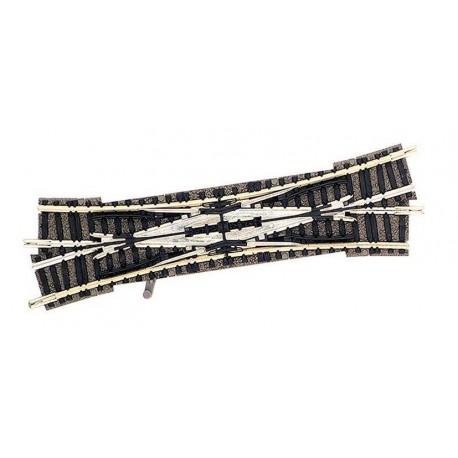 FLEISCHMANN 9184. N Desvío doble vías Piccolo izquierdo de 111 mm y 15º manual