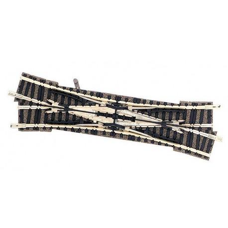 FLEISCHMANN 9185. N Desvío doble vías Piccolo derecho de 111 mm y 15º manual