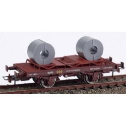 KTRAIN 0715-A. H0 Vagón bobinero MB-153049, RENFE óxido
