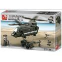SLUBAN 286600. Army Helicoptero Transportador. 370 piezas