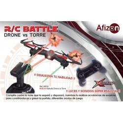 AFIZON 49035. RC QUADCOPTER BATALLA CON LA TORRE.