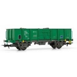 ELECTROTREN 1262. H0 Vagón abierto RENFE verde/gris cargado con chatarra