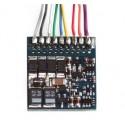 ESU 54620. H0 Decoder de funciones LokPilot Fx V4.0, con enchufe de 8 pins NEM652.
