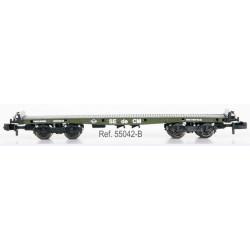 IBERTREN 55042-B. Vagón Plataforma Teleros sin garita