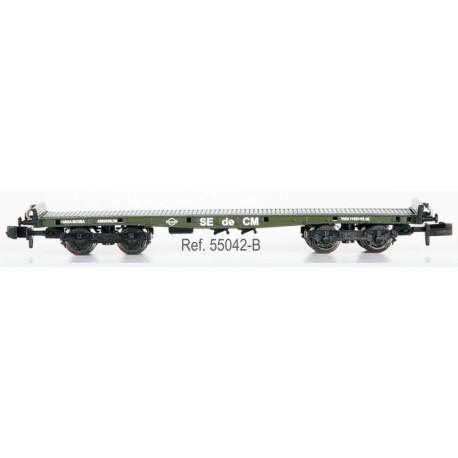 IBERTREN 55042-B. N Vagón Plataforma Teleros sin garita