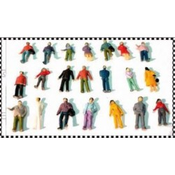 MABAR 60110-N. Figuras de pie, 25 unidades