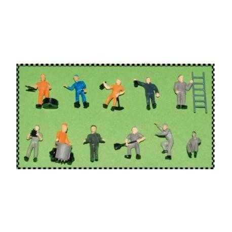 MABAR 60130-HO. Figuras Obreros, 12 unidades