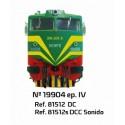 MABAR 81512S. H0 Locomotora Diésel matrícula 19904. Digital con Sonido