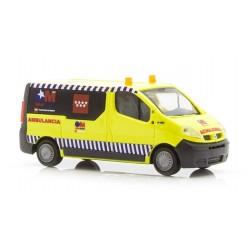 RIETZE 51389. H0 Renault Trafic Ambulancia Comunidad de Madrid