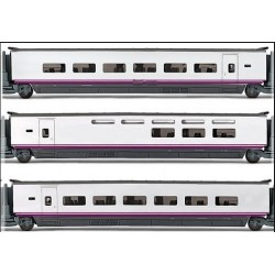 ELECTROTREN 3524. H0 Set 3 coches adicionales EUROMED S-101