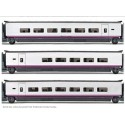 ELECTROTREN 3525. H0 H0 Set 3 coches adicionales EUROMED S-101
