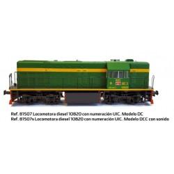 MABAR 81507S. H0 Locomotora Diésel 10820 RENFE con numeración UIC