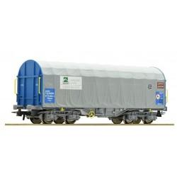 ROCO 67315. H0 Vagón bobinero con toldo CARGAS RENFE SIDERURGICO.
