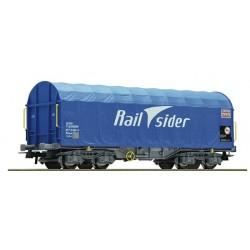 ROCO 67316. H0 Vagón bobinero con toldo RAILSIDER.
