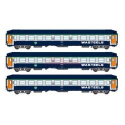 SUDEXPRESS VB-193. H0 Set 3 coches litera WASTEELS de la SNCF.