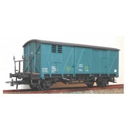 "KTRAIN 0703-O. H0 Vagón cerrado con balconcillo ""Material Remolcado UJO""."