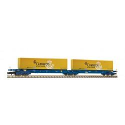 FLEISCHMANN 825336. N Vagón doble con 2 contenedores de CORREOS