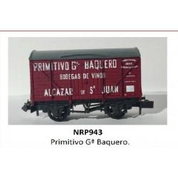 PECO NRP943. N Vagón Cerrado PRIMITIVO Gª BAQUERO