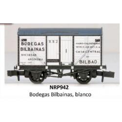 PECO NRP942. N Vagón Fudre BODEGAS BILBAINAS blanco.