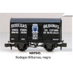 PECO NRP945. N Vagón fudre BODEGAS BILBAINAS negro.