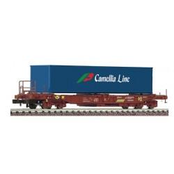 FLEISCHMANN 845368. N Vagón Plataforma con contenedor CAMELIA LINE.
