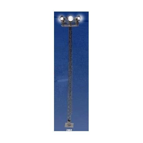 ANESTE 2663. Torre celosía metal N 6 reflectores, luz blanca, led 155 mm