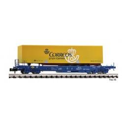 FLEISCHMANN 845371. N Vagón Plataforma con contenedor de CORREOS.