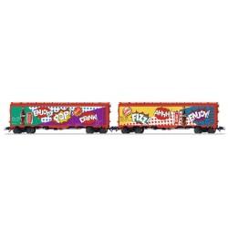 MARKLIN 45685. H0 Set de 2 vagones frigoríficos de COCA COLA