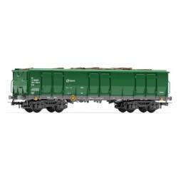 ELECTROTREN 6541. H0 Vagón abierto tipo Ealos con carga de troncos.