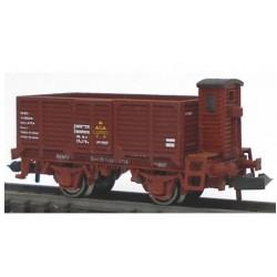 KTRAIN 1707-B. N Vagón abierto borde alto X2 con garita X-188065 rojo óxido.