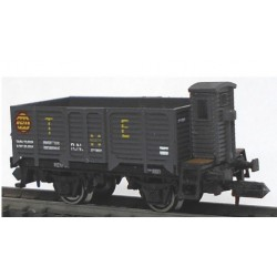 KTRAIN 1707-C. N Vagón abierto borde alto X2 con garita X188001 gris oscuro.