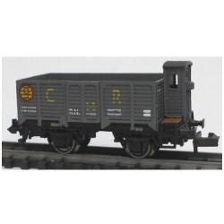 KTRAIN 1707-D. N Vagón abierto borde alto X2 con garita X-188122 CR.