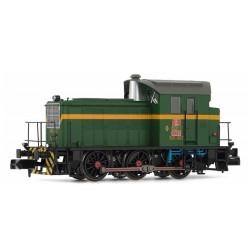 ARNOLD 2323D. N Locomotora Diesel RENFE Digital 303.131, verde y amarillo.