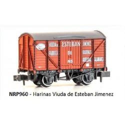PECO NRP960. N Vagón HARINAS VIUDA DE ESTEBAN JIMENEZ