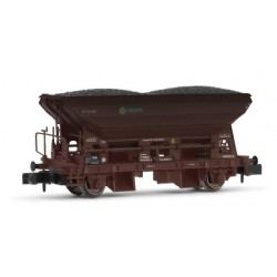 Vagón tolva 2 ejes rojo óxido