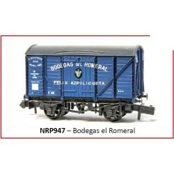 PECO NRP947. N Vagón Cerrado BODEGAS DEL ROMERAL.