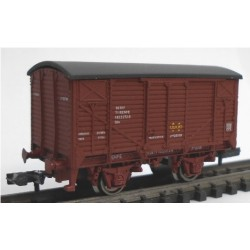 KTRAIN 1703-G. N Vagón Cerrado J-25780, rojo óxido.