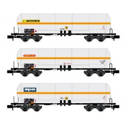 ARNOLD 6387. N Set de 3 vagones cisternas de Gas de la SNCF.