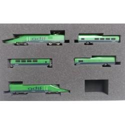 IH-T001. N Tren auscultador ADIF A-330 Séneca. Verde intenso.