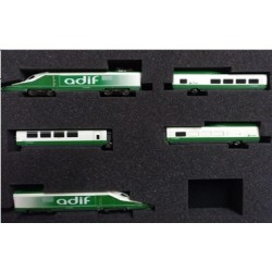 IH-T003. N Tren auscultador ADIF A-330 Séneca, en versión verde y blanco.