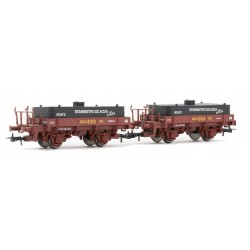 ELECTROTREN 19042. H0 Set 2 vagones aljibe Renfe, rojo óxido.