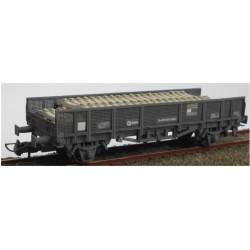 KTRAIN 0717-B. H0 Vagón especial para transporte de traviesas, gris.