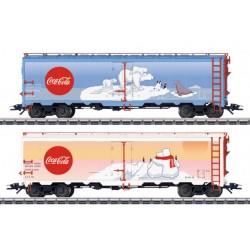 MARKLIN 45687. H0 Set 2 Vagones de Mercancías COCA-COLA.
