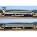 MABAR 81406. H0 Set 2 vagones borde bajo grises.